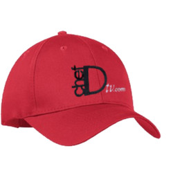 ChefD Twill Baseball Cap - red