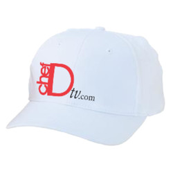 ChefD Twill Baseball Cap - white