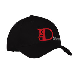 ChefD Twill Baseball Cap - black
