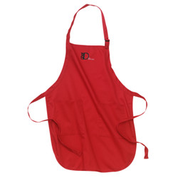ChefD Full Lenght Apron - red